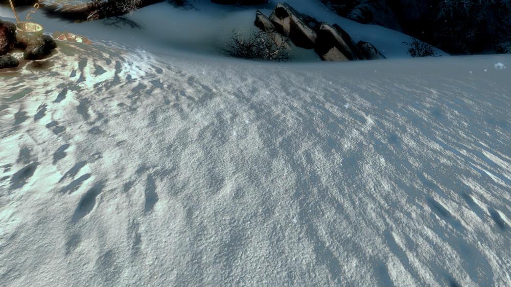 скачать мод на скайрим на снег