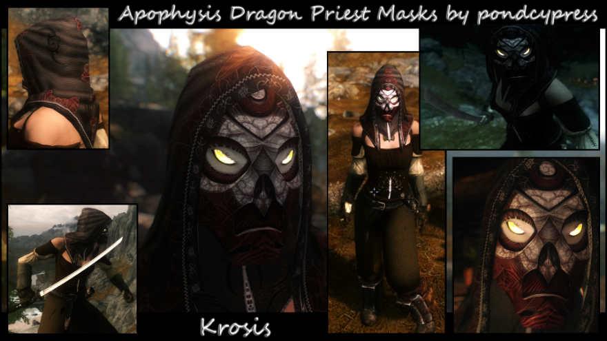 Скайрим мод маски драконьих жрецов ретекстур