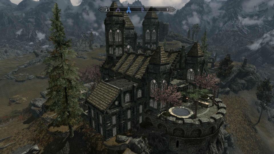 Скачать мод на красивый замок на скайрим