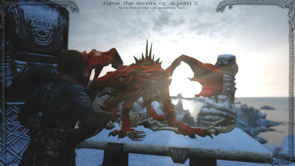 Скачать мод на скайрим как приручить дракона