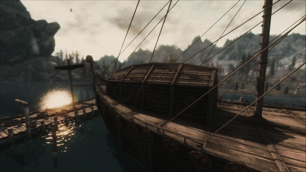 Скачать мод на скайрим плавание на кораблях