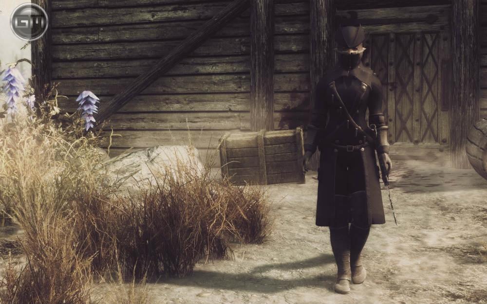 скачать мод на скайрим на броню охотника