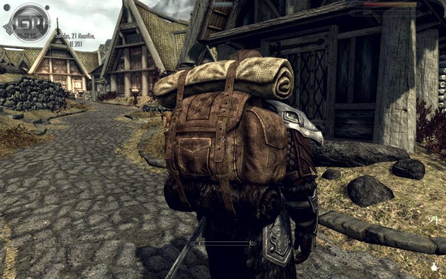 скачать мод на скайрим на рюкзаки кожаные
