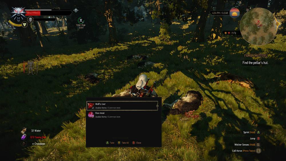 Увеличение добычи с существ / Increased Creature Loot для The Witcher 3: Wild Hunt - Скриншот 1