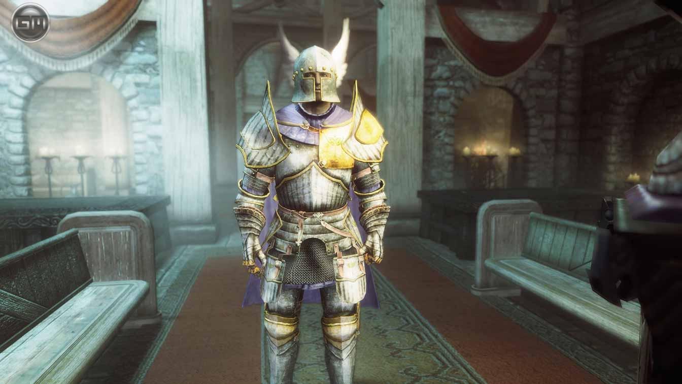 Доспехи паладина / Paladin Armor 3.0 для TES V: Skyrim - Скриншот 2
