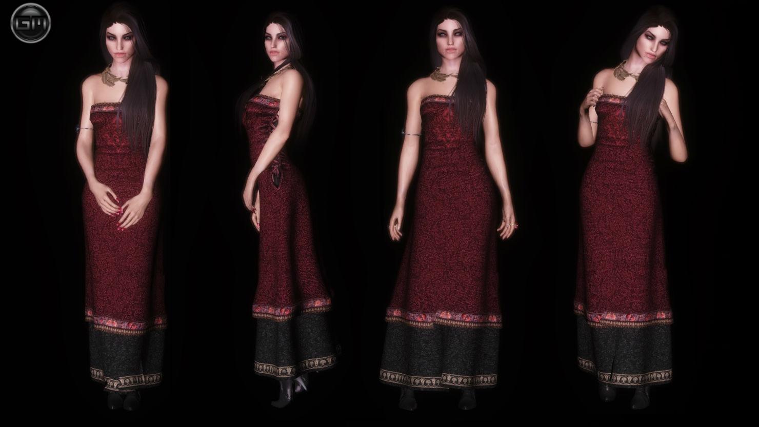 Платья для skyrim unp