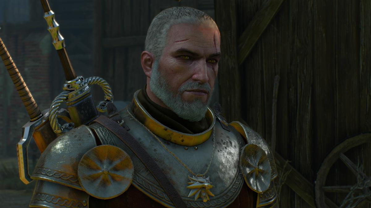 Короткая прическа Геральта / Short Hair Geralt 1.01 для The Witcher 3: Wild Hunt - Скриншот 1