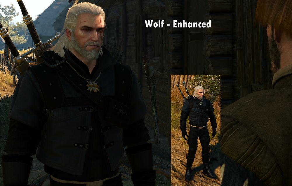 Новые текстуры брони школы Волка / Dark Wolf 1.0 для The Witcher 3: Wild Hunt - Скриншот 2