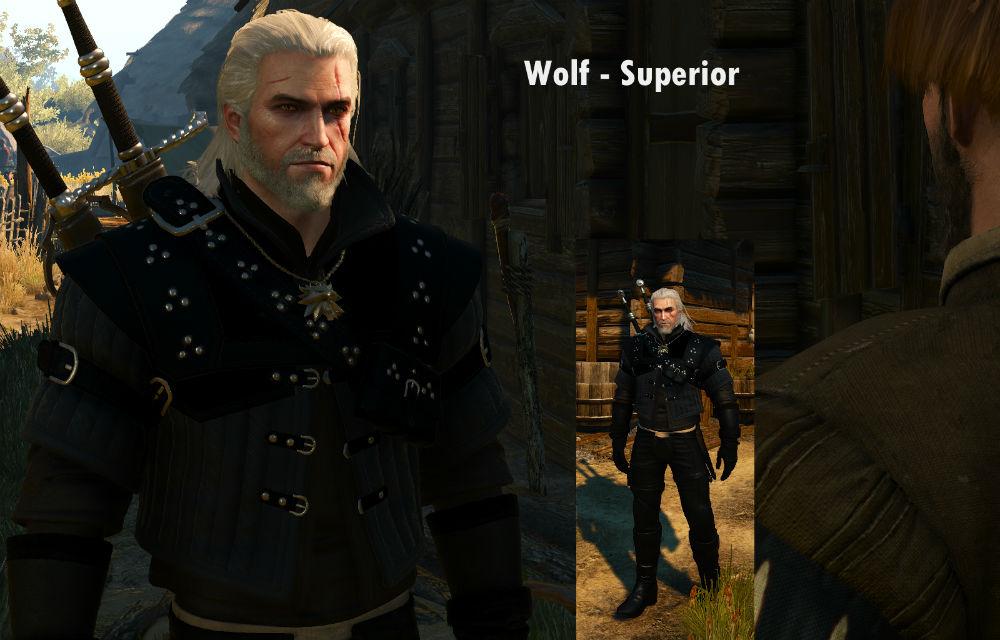 Новые текстуры брони школы Волка / Dark Wolf 1.0 для The Witcher 3: Wild Hunt - Скриншот 3