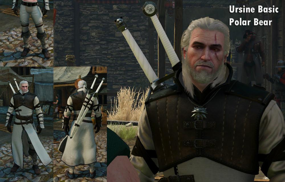 Новые текстуры брони школы Медведя / Polar Bear 1.0 для The Witcher 3: Wild Hunt - Скриншот 1