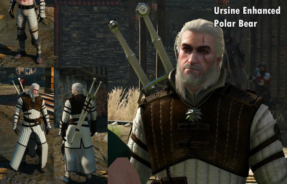 Новые текстуры брони школы Медведя / Polar Bear 1.0 для The Witcher 3: Wild Hunt - Скриншот 2