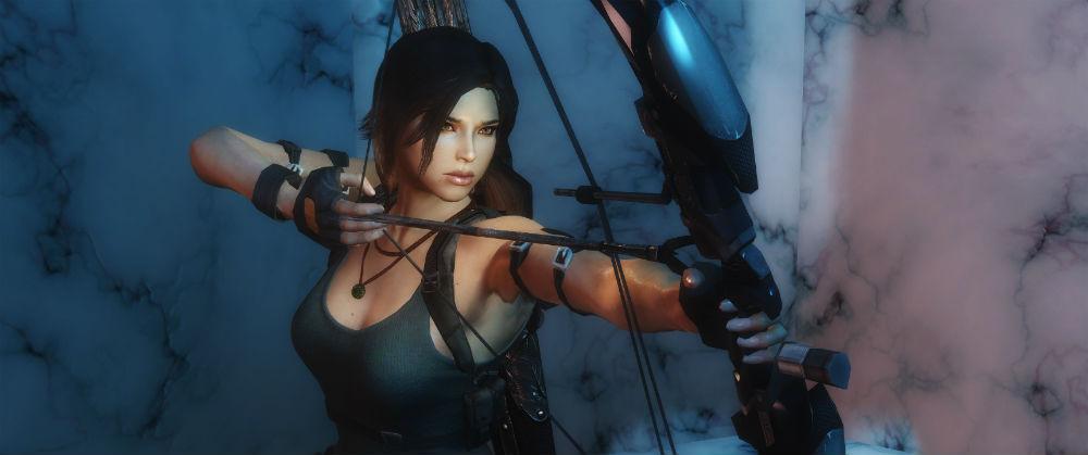 Лара Крофт / Lara Croft follower 1.01.1 для TES V: Skyrim - Скриншот 3
