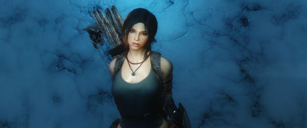 Лара Крофт / Lara Croft follower 1.01.1 для TES V: Skyrim - Скриншот 1