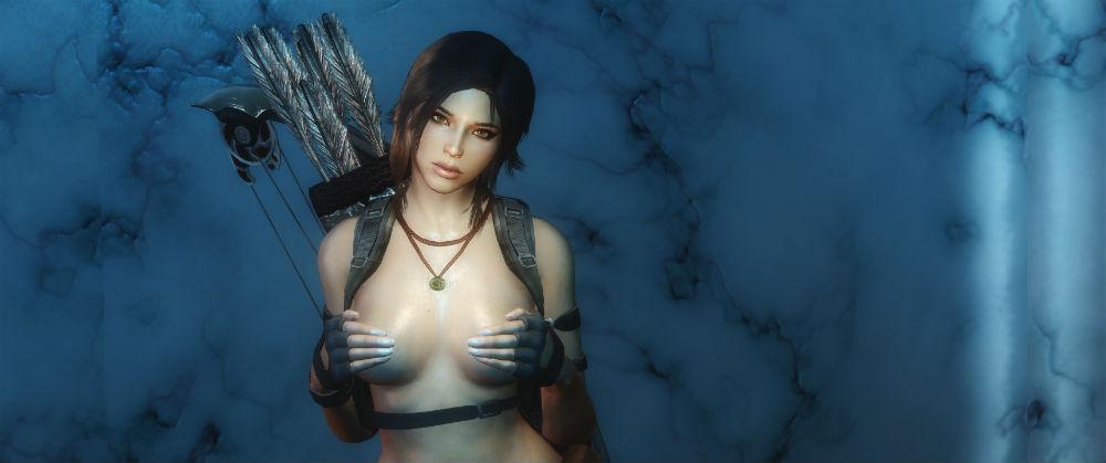 Лара Крофт / Lara Croft follower 1.01.1 для TES V: Skyrim - Скриншот 2
