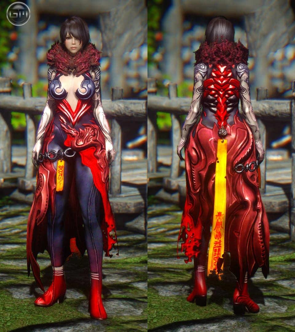 blade and soul красный платок