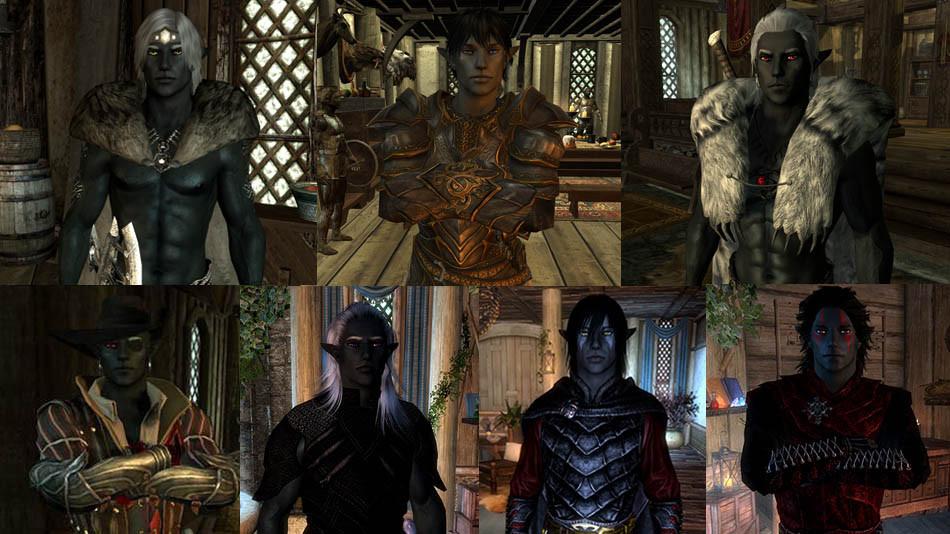 skyrim drow armor
