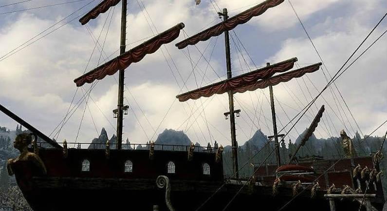 Скачать мод на скайрим на дом корабль скарлет