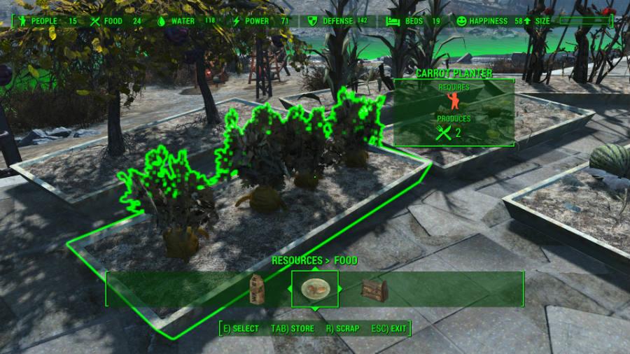 Fallout 4 как вырастить пищу