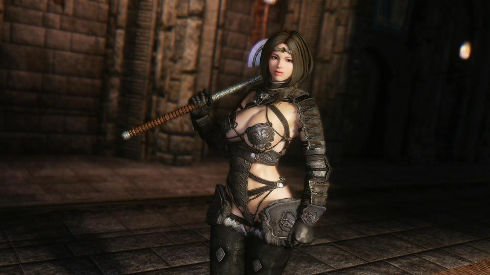 Skyrim mod секси броня