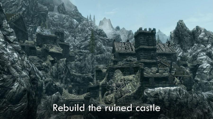 скачать мод на скайрим на замок гондуин