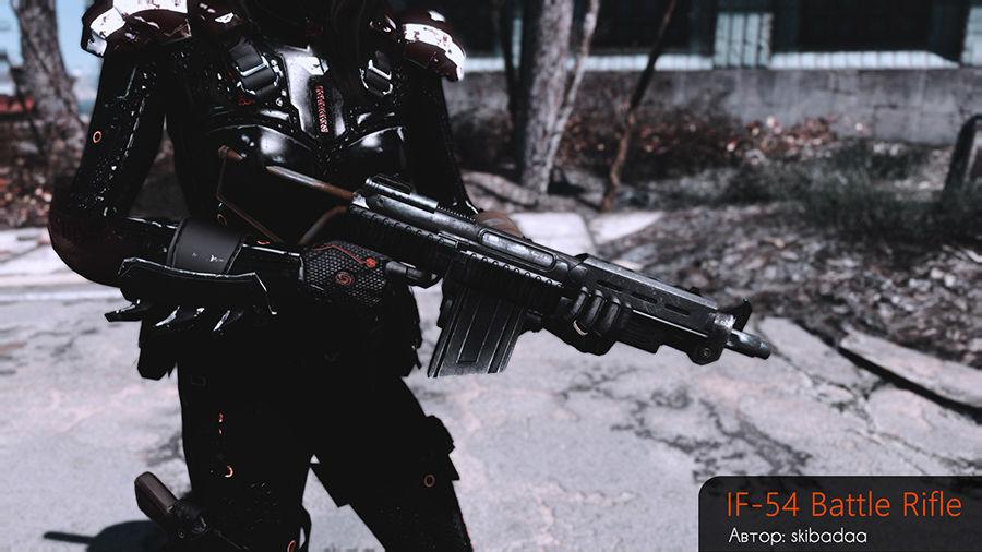 Боевая винтовка BR77 / Battle Rifle BR77 - Оружие - Fallout