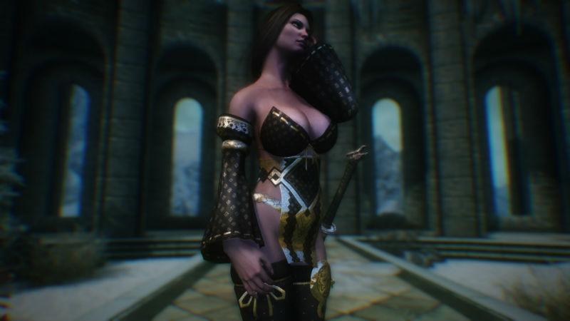 Секси броня cbbe для skyrim