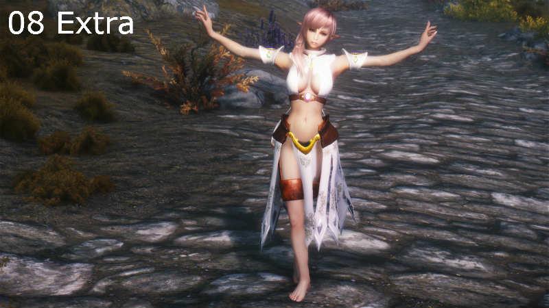 Стойки без оружия для девушек / Pretty Female Idles 1.93 для TES V: Skyrim - Скриншот 2