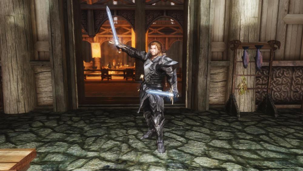 Скачать мод на скайрим на анимацию боя с одноручным оружием