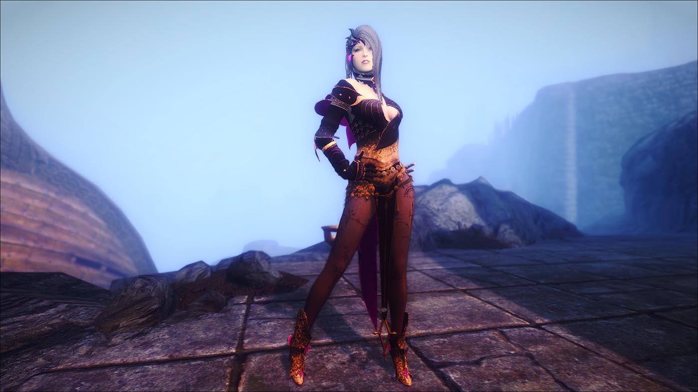 Наборы брони Dark Knight из игры Black Desert для Skyrim - Броня