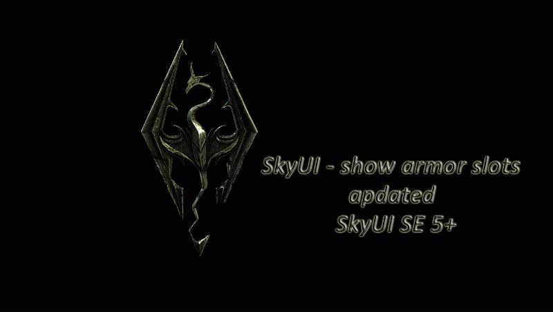 Skyrim skyui show armor slots