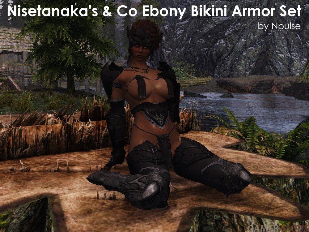 ebony bikini armor skyrim