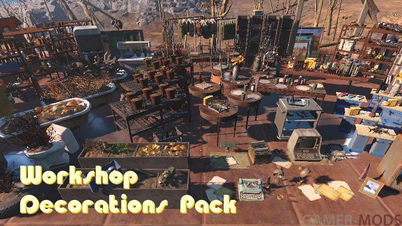 Пакет украшений для мастерской / Workshop Decorations Pack