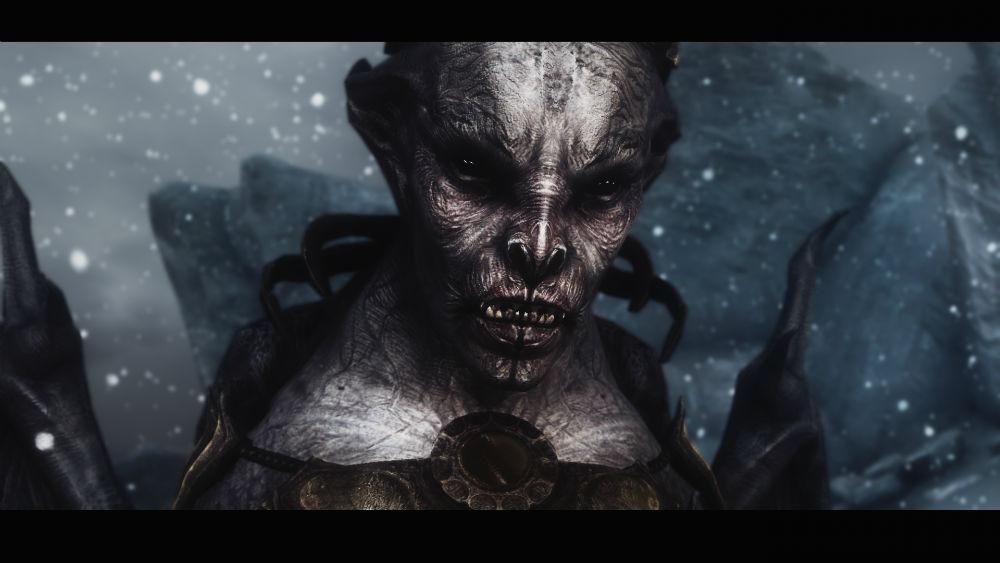 Skyrim Vampire Lord Retexture Mods Vampire Lord Hd Retexture 1