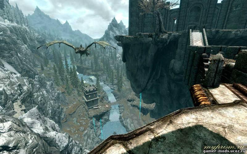 Скачать мод для скайрим небесный замок